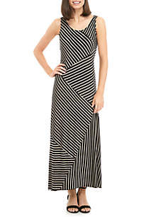 Maxi Stripe Knit Maxi Dress