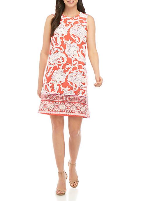 AGB Sleeveless A Line Paisley Dress