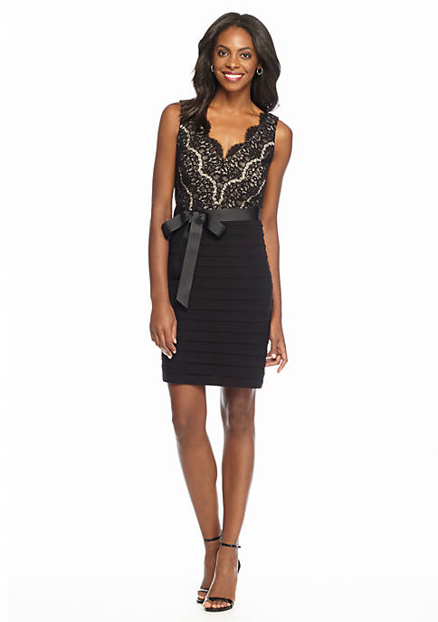 Joanna Chen New York Embroidered Lace Cocktail Dress   belk