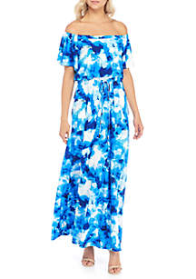 Off-The-Shoulder Maxi with Tie Waist