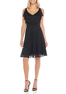 Sleeveless Flouncy Popover Dress