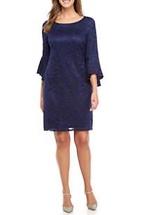 Three-Quarter Sleeve Lace Dress