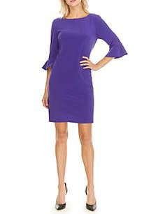 3/4 Ruffle Sleeve Dress