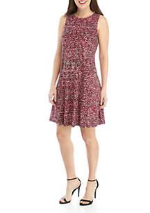 Nine West Sleeveless Spotted Dress