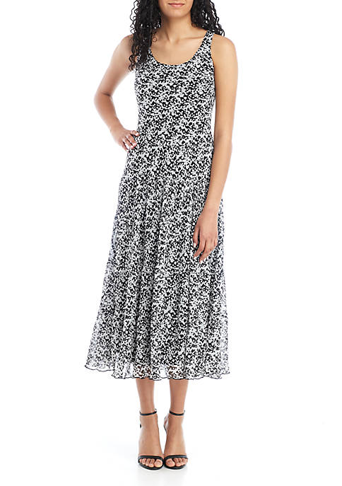 Sleeveless Multi Tier Maxi Dress