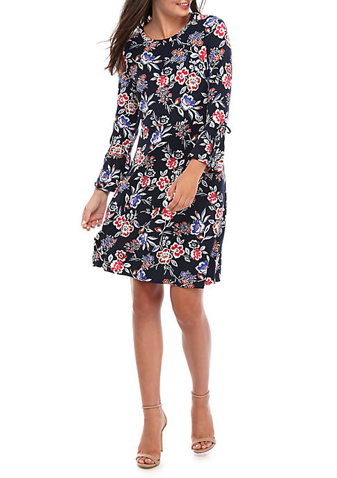Nine West Bell Sleeve Fit and Flare Dress