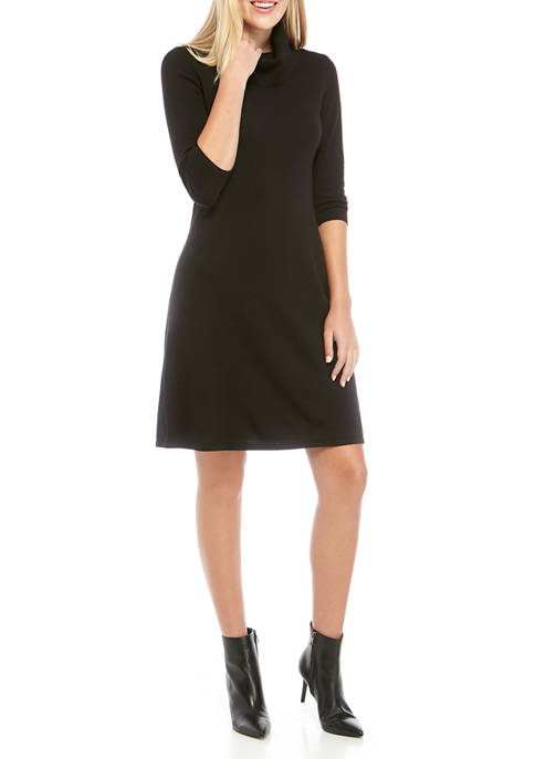 Nine West Womens Solid Cowl Neck Fit and