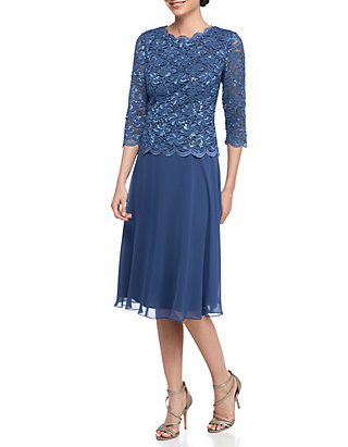 77e1411d4844 Alex Evenings. Alex Evenings Tea Length Mock Dress