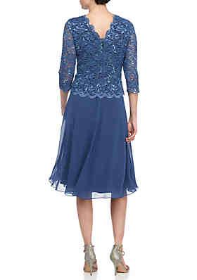 885317dce537 Alex Evenings Tea Length Mock Dress Alex Evenings Tea Length Mock Dress