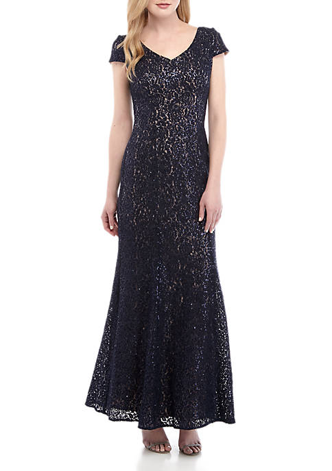 Alex Evenings Floral Lace Gown