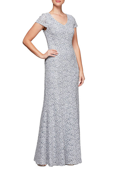 RM Richards Lace Gown with Jacket | belk