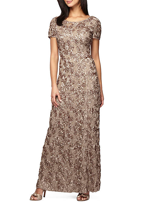 Rosette Gown with Sequin