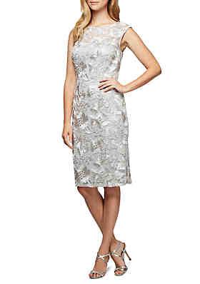 938406c4510 Alex Evenings Short Cap Sleeve Dress ...