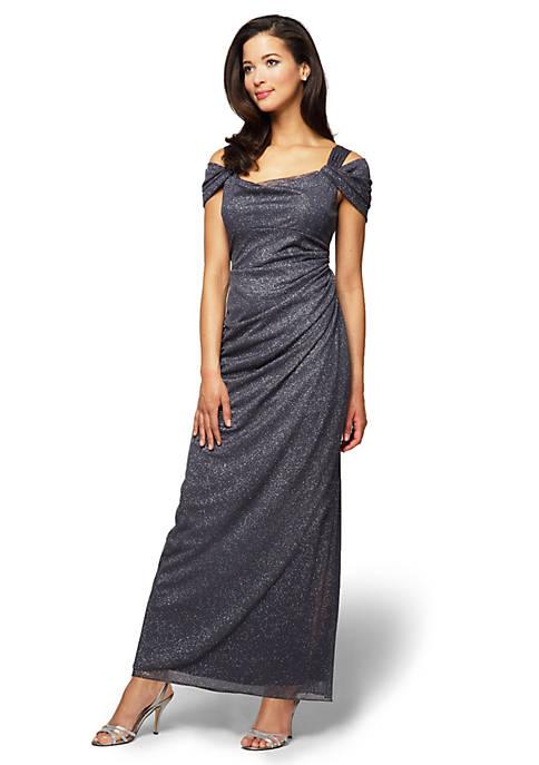 Alex Evenings Cold Shoulder Gown