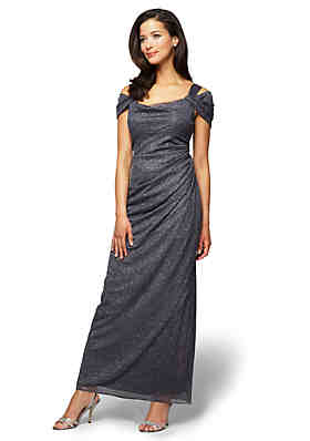 Alex Evenings Cold Shoulder Gown ... 6583f5fcdd9e