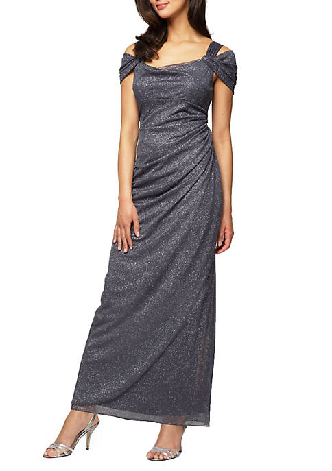 Alex Evenings Cold Shoulder Gown