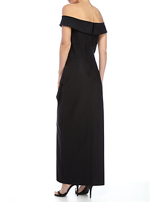 0cf85c6aecf ... Alex Evenings Bead Embellished Off the Shoulder Gown