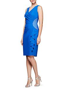 Short Neckline Sheath Dress