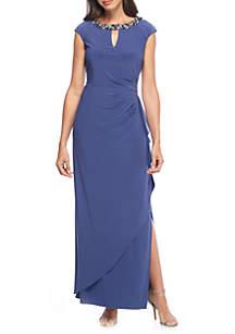 Long Cap Sleeve Dress