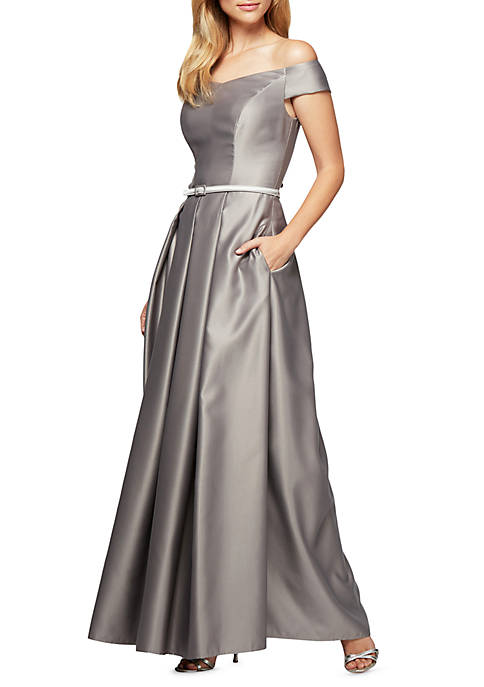 SLNY Sequin Shoulder Pantset Dress | belk