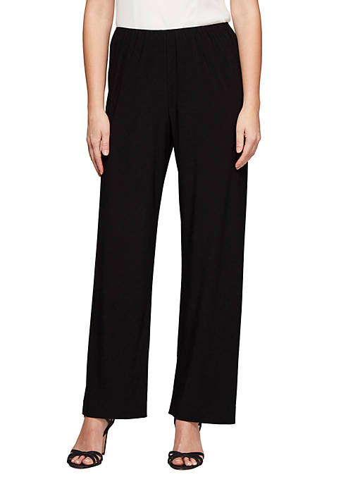 Alex Evenings Matte Jersey Straight Leg Pant