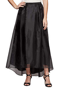 Midi-Length Organza Party Skirt