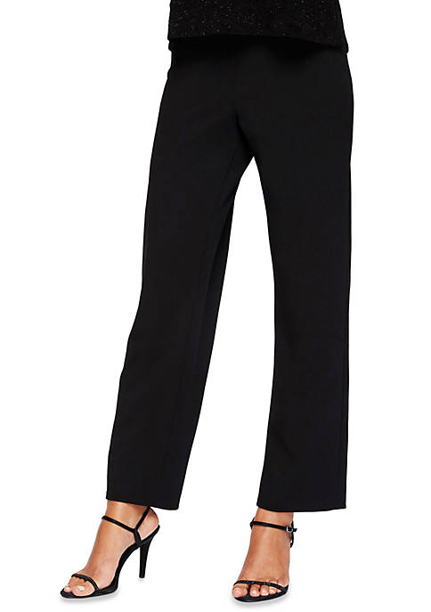 Crepe Slim Leg Pants