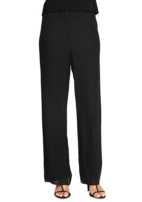 Alex Evenings Silky Chiffon Pant