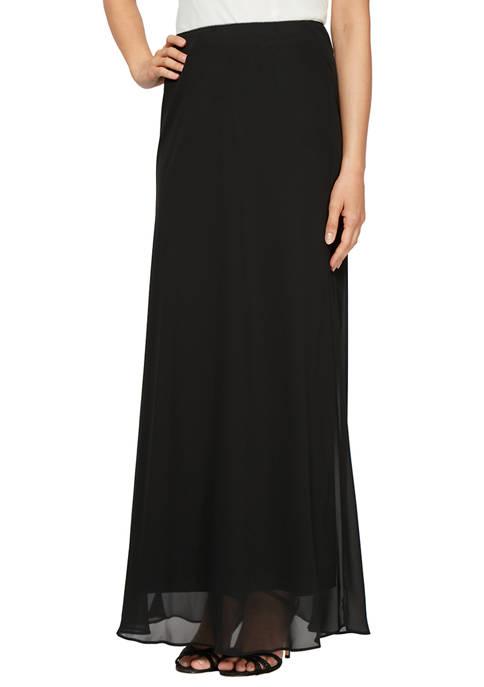 Long A-line Chiffon Skirt