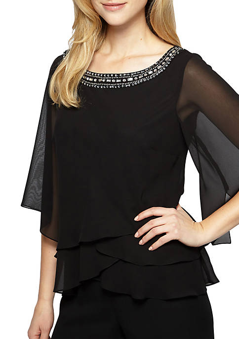 Alex Evenings 3/4 Sleeve Blouse