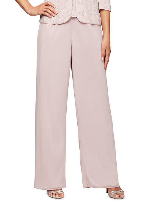 Alex Evenings Peacock Chiffon Pants