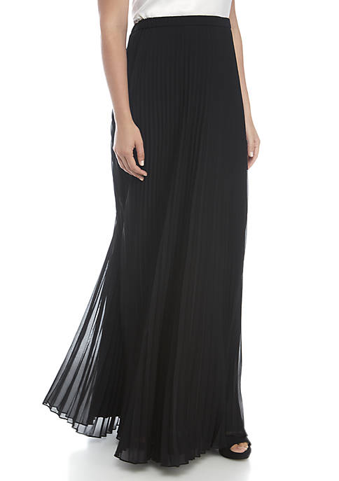 Alex Evenings Long Full Pleated Skirt