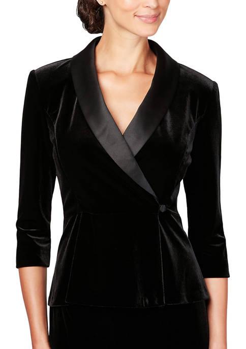 3/4 Sleeve Side Close Blouse