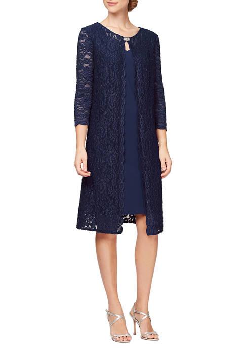 Womens Short Mock Jacket Dress