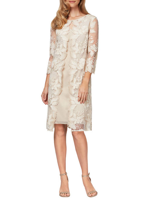 Womens Short Embroidered Dress
