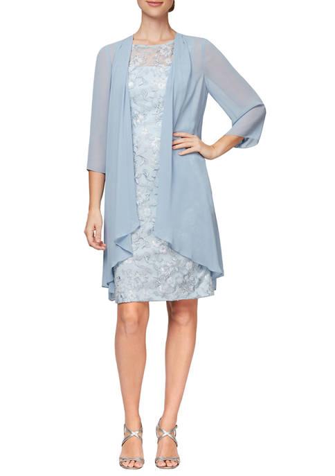 Womens Sheath Dress with Coat