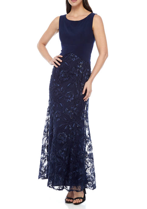 Alex Evenings Womens Long Fit and Flare Gown