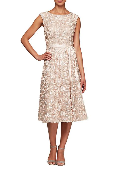 Alex Evenings Sleeveless Midi Length Dress