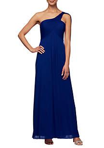 984530c64c ... Alex Evenings One Shoulder Empire Waist Gown
