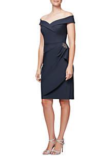Off-The-Shoulder Compression Dress