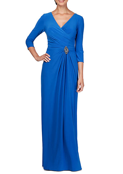 Jersey A Line Gown