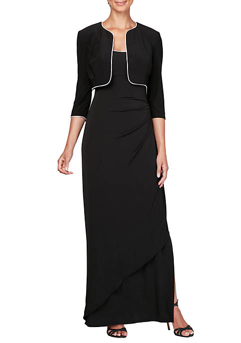 3/4 Sleeve Long Jacket Dress