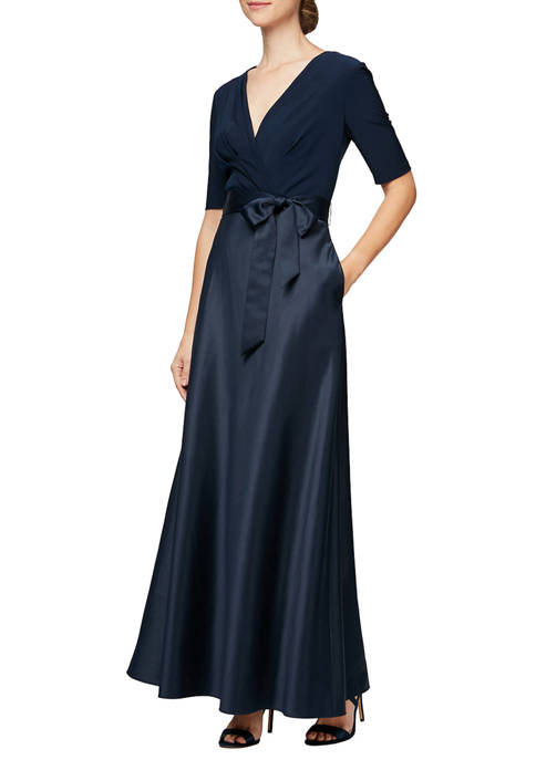 Alex Evenings Womens Long Neckline Ball Gown