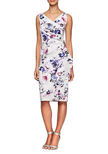 8c59a786b65f ... Alex Evenings Sleeveless Printed Short Sheath Dress