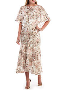 Alex Evenings High Low Floral Dress
