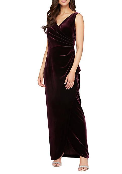 Womens Long Sleeveless Gown