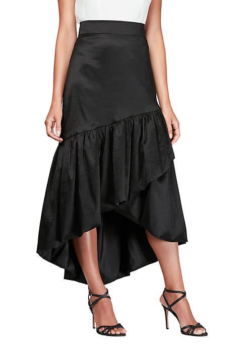High Low Overlay Ruffle Skirt
