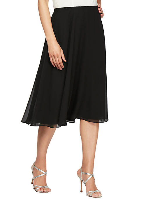 Alex Evenings Mid Length Chiffon Skirt