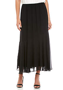 Tea Length Asymmetrical Skirt