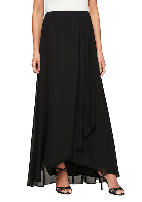 Alex Evenings Mock Wrap Long Skirt